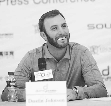 Dustin Johnson Panel Black & White