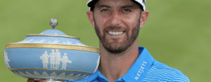 Dustin Johnson with Trophy at Dell Match Play